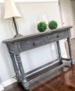 grey painted table image