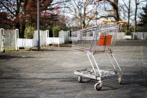 cart in parking lot image