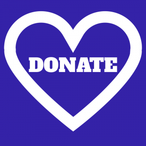 blue donate heart image