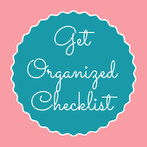 Printable Get Organized Checklist