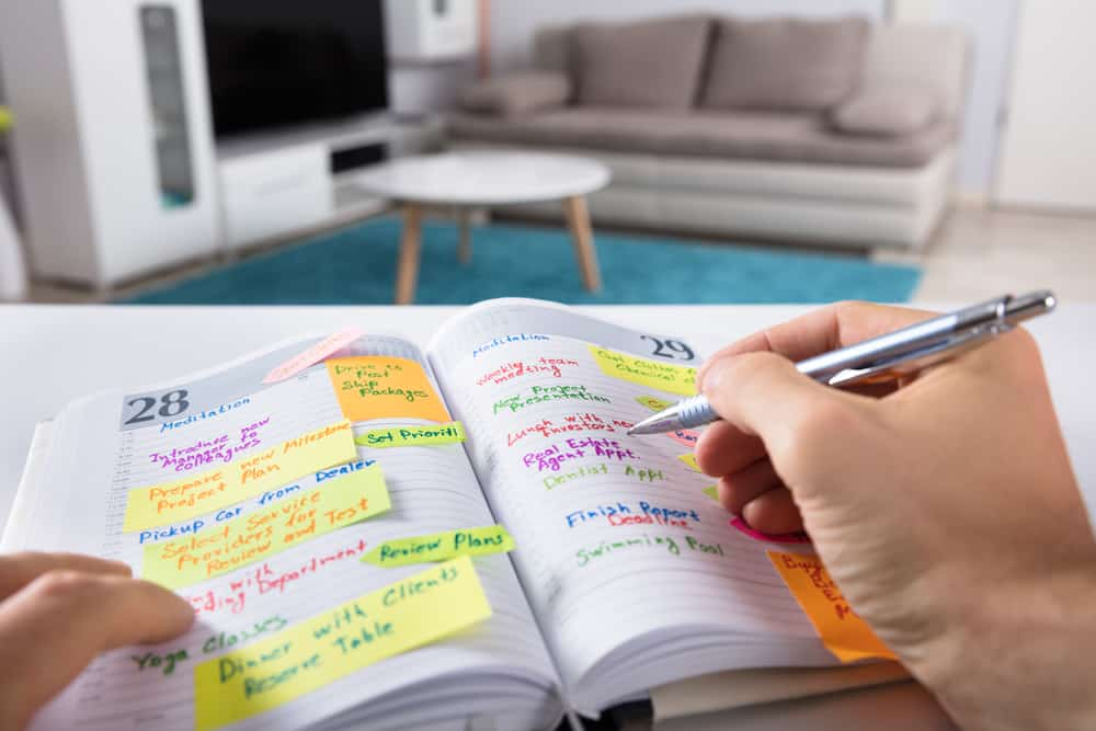 how to start organizing a messy  house using a planner