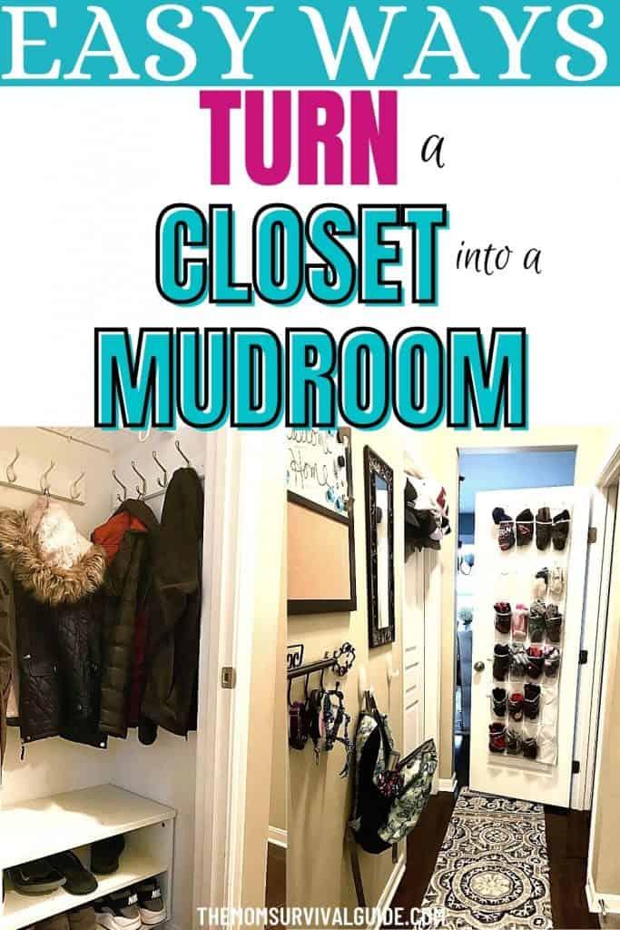 turn closet into mudroom pin image of closet mudroom