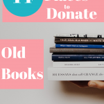 Get Organized by decluttering old books you no longer need. Decluttering will have a life changing affect on your home and life. #lifechanging #organization #clutter #momlife #stayathomemom #inyourhome #nolongerneed #purge #books