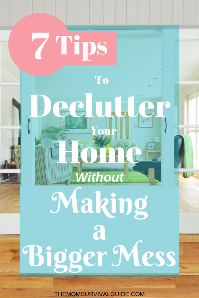 Declutter your home with these ideas to simplify the process.  Includes a checklist to start decluttering your bedroom, kitchen, closet, and more.  #declutter #organization #momlife #bedroom #kitchen #closet #simplify
