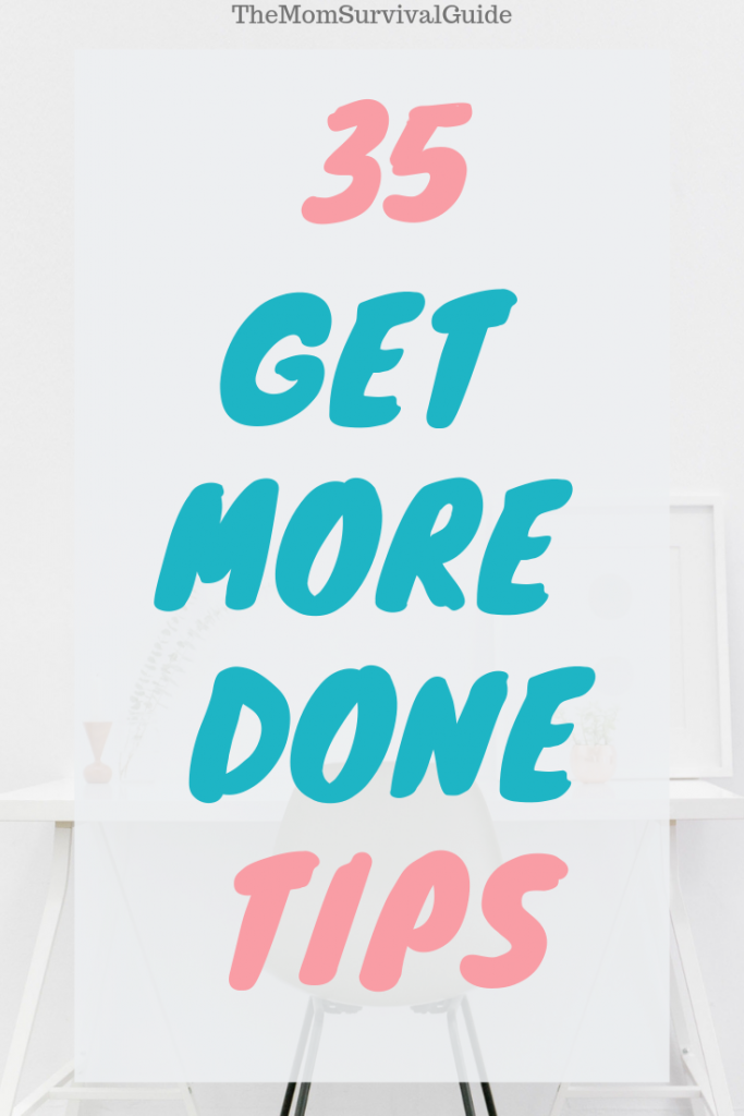 35 tips to get more done in a day for moms through planners and time management to increase productivity. #tips #planner #printables ##stayathomemoms #productivity #inaday #timemanagement #organization