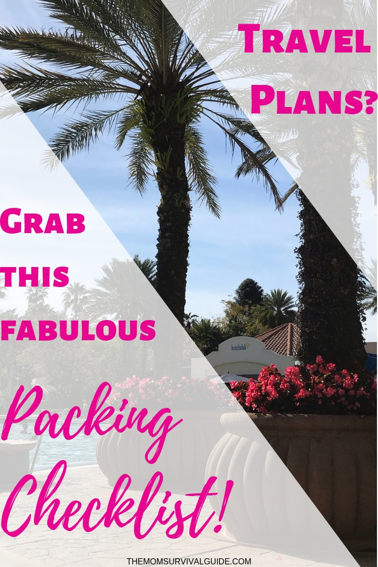 Printable Vacation Packing Checklist to make packing for your family vacation quick and easy!  #familyvacation #printables #checklist #packing #momlife
