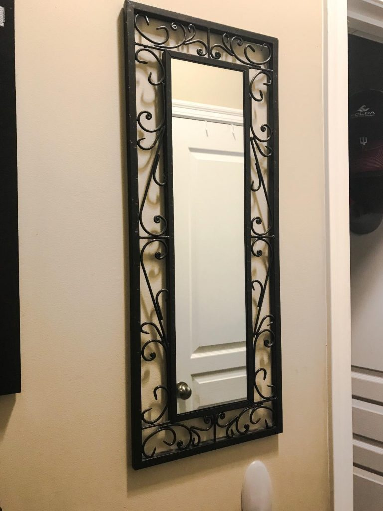 Mirror from Pier 1.  #organization #storage #solutions