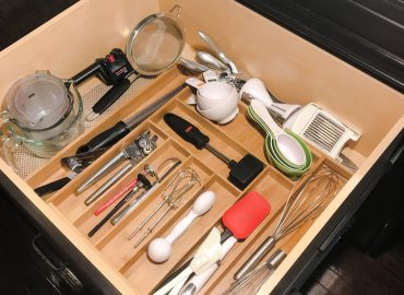 Kitchen utensil drawer before and after organization. #organization #solution #kitchen