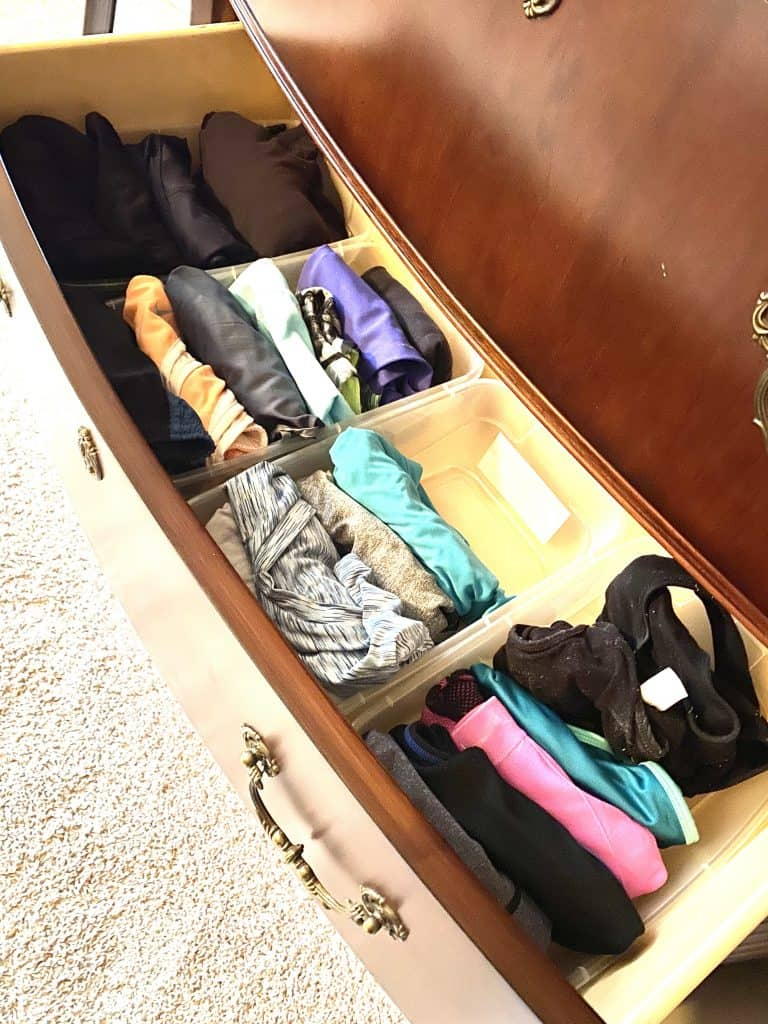organizing things we store in drawers
