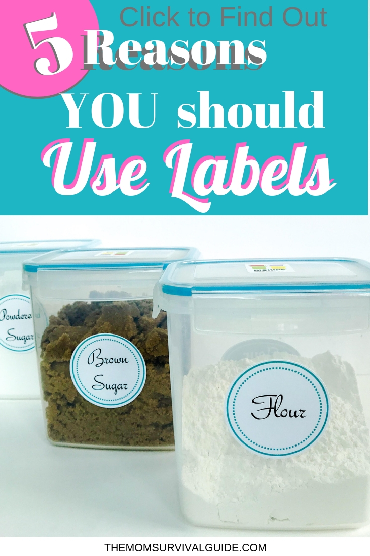 Organizing your home is pointless unless you use labels!  Here are 5 great reasons why you should use labels in your pantry.  There are also 9 FREE printable pantry labels you can download and print from home.  They are super easy to use because they print right onto Avery Labels and then stick to whatever you want.  #printable #labels #pantry