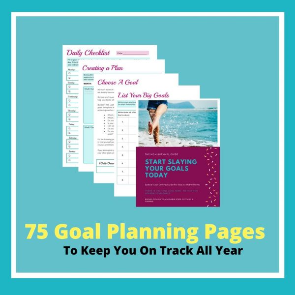 75 Goal Planning Pages to keep you on track the whole year!