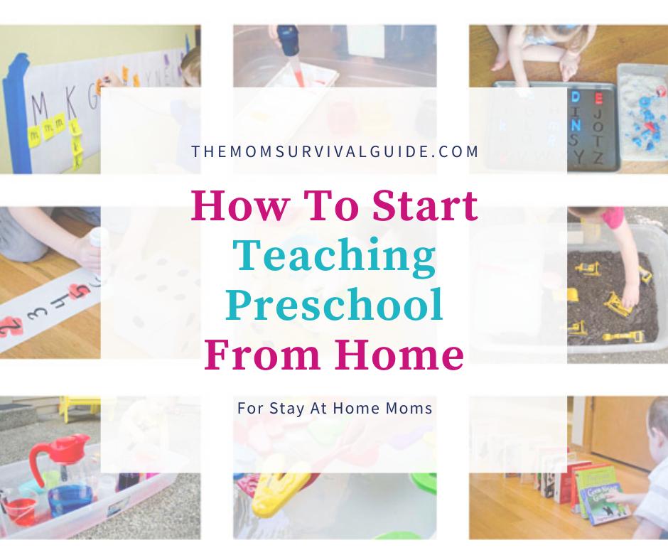 teaching preschool from home