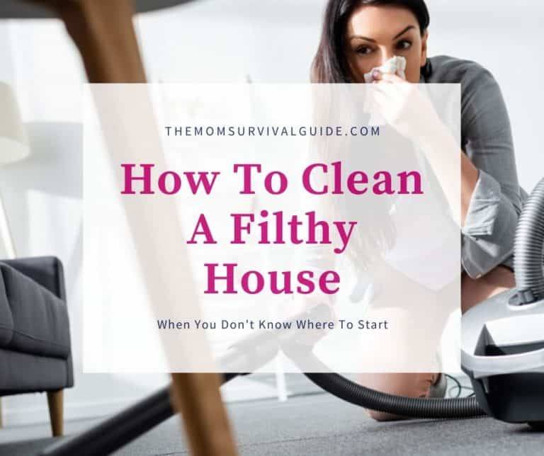 How To Clean A Filthy House When You Don't Know Where To Start:  9 Tips To Get You Started
