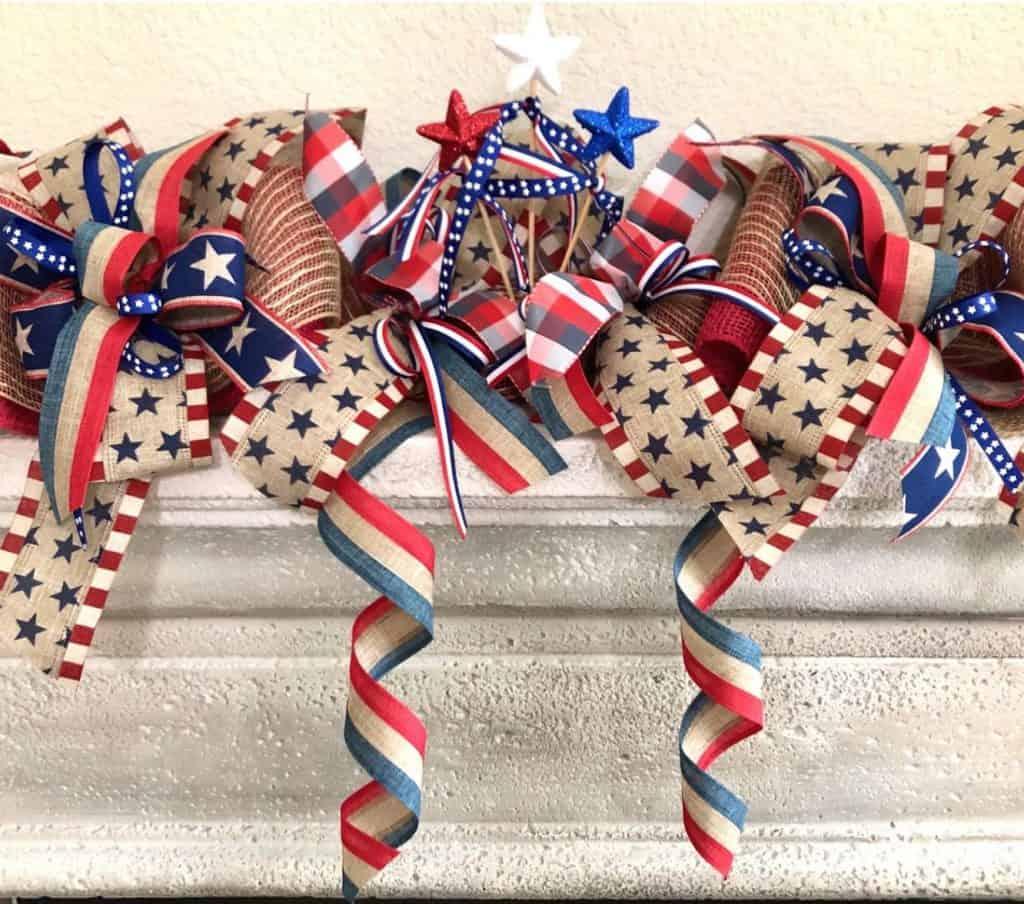 patriotic ribbon twirls etsy