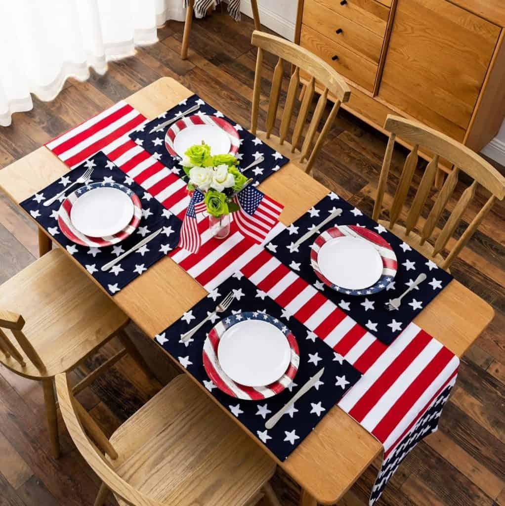 patriotic star placemats