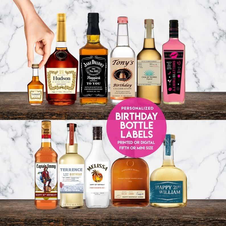 bottles of liquor on shelves