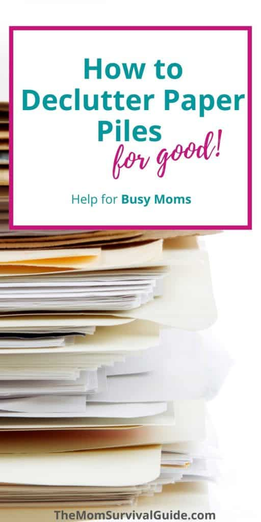 How to Declutter Paper Piles