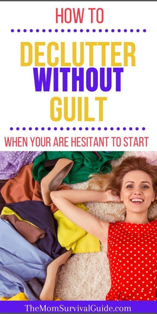 declutter without guilt