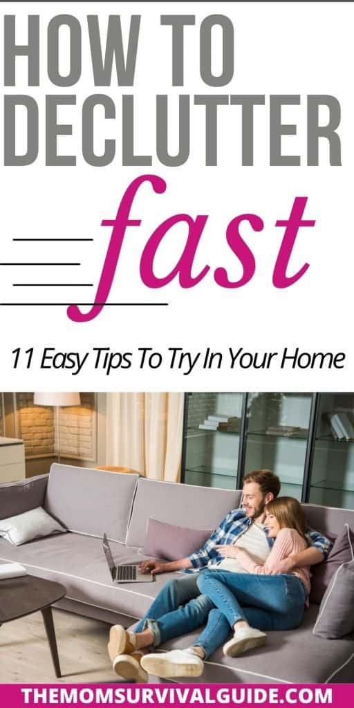 how to declutter fast pin