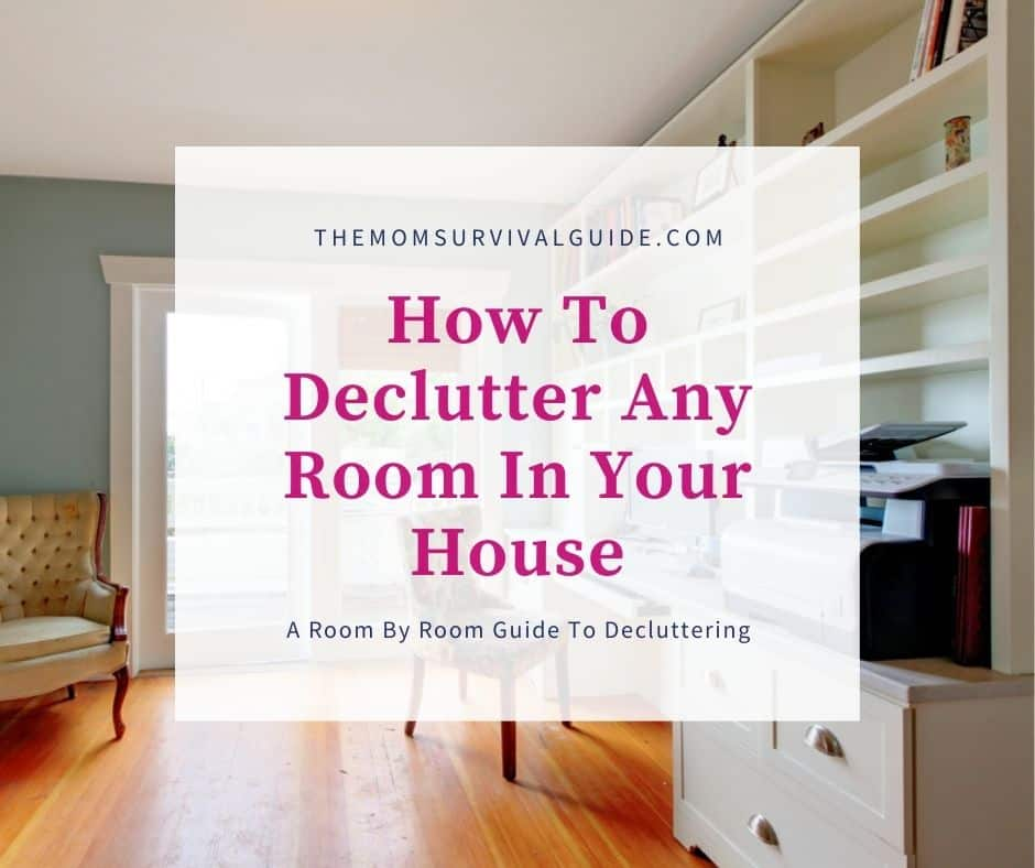 how to declutter a room feature image