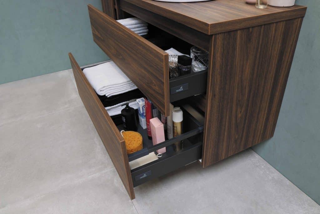 2 deep bathroom drawers