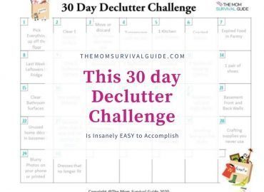 30 day declutter challenge calendar and feature image