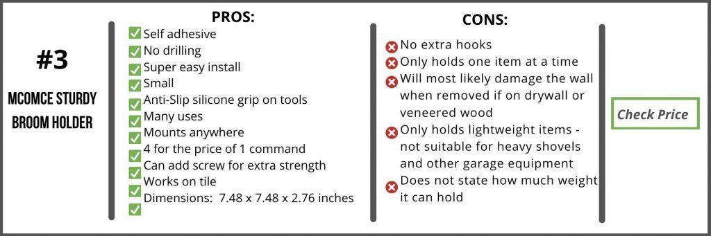 Best Broom Holder Comparison Chart3
