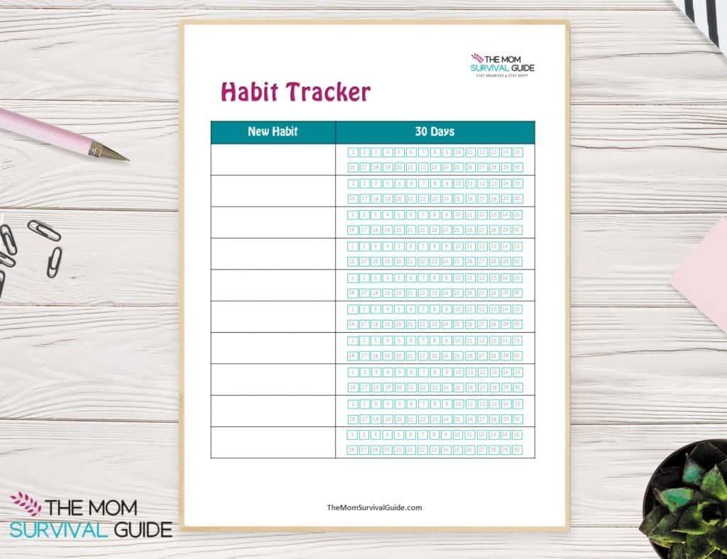 Framed Habit tracker to get organized