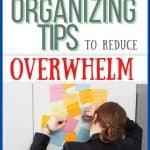 woman overwhelmed with tasks and pounding fists red and green writing organizing tips