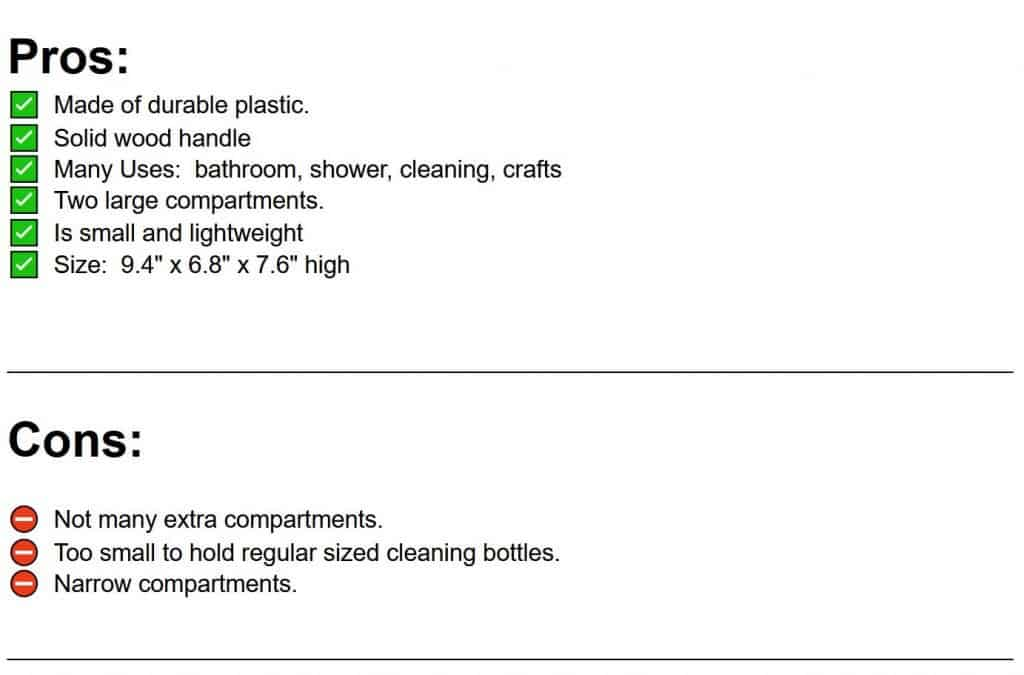 pros and cons list of pretty cleaning caddy