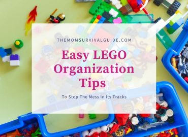 Easy Lego organzation tips to stop the mess in its trackswith picture of legos and storage