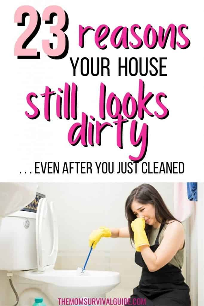 pin for 23 reasons your house still looks dirty with woman cleaning toilet