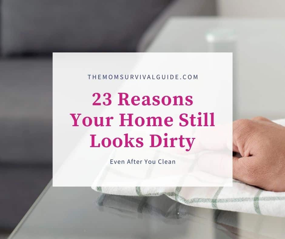 feature image for 23 reasons your home still looks dirty even after you clean with person wiping countertop with towel
