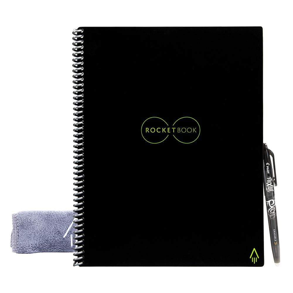Rocketbook erasable notebook with pen and fabric eraser