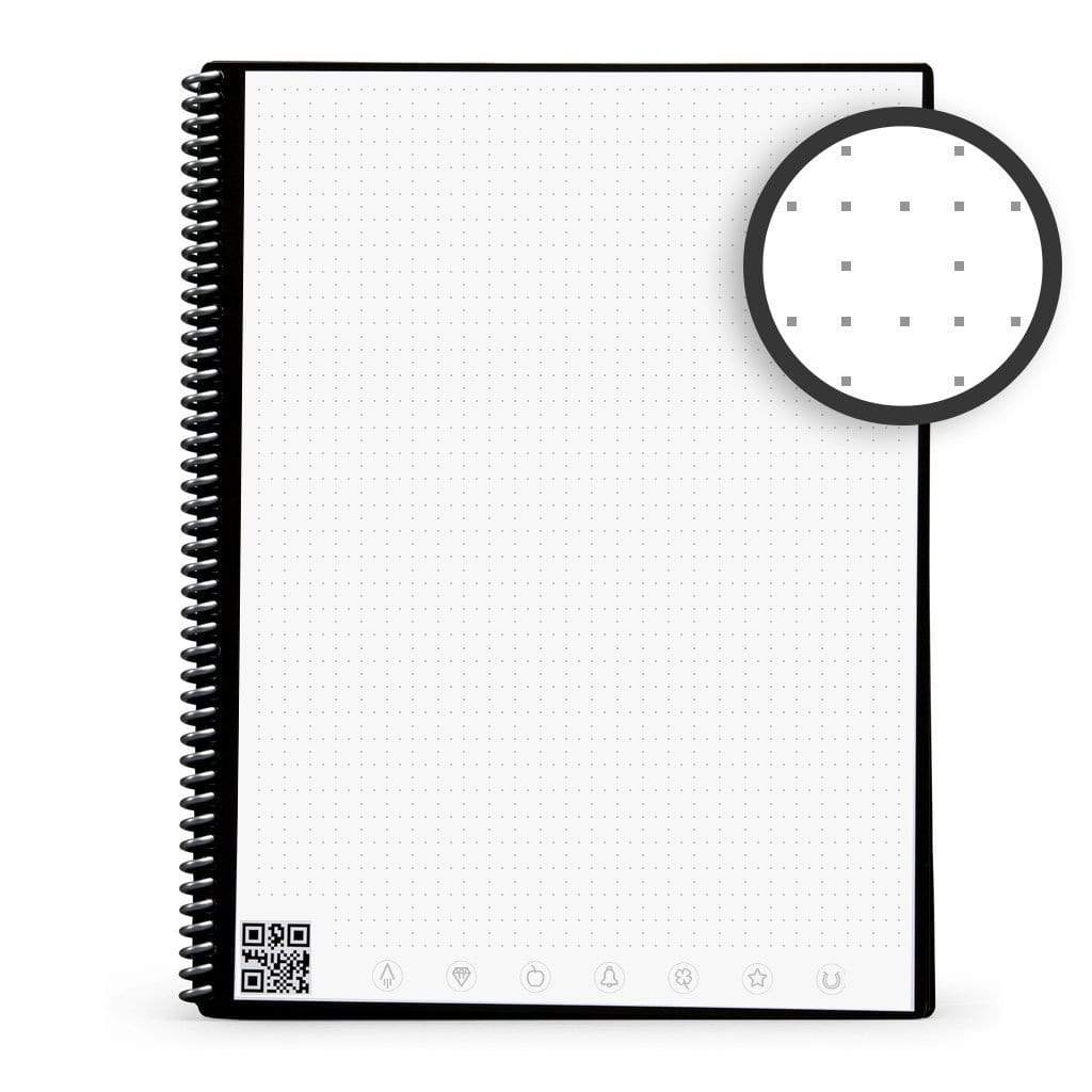 inside dotted page of Rocketbook erasable notebook