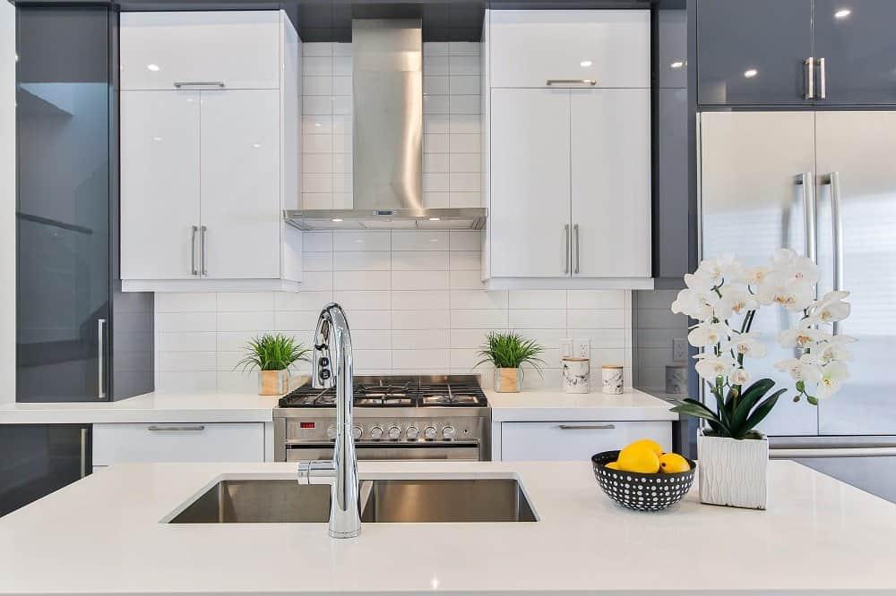 bleached kitchen