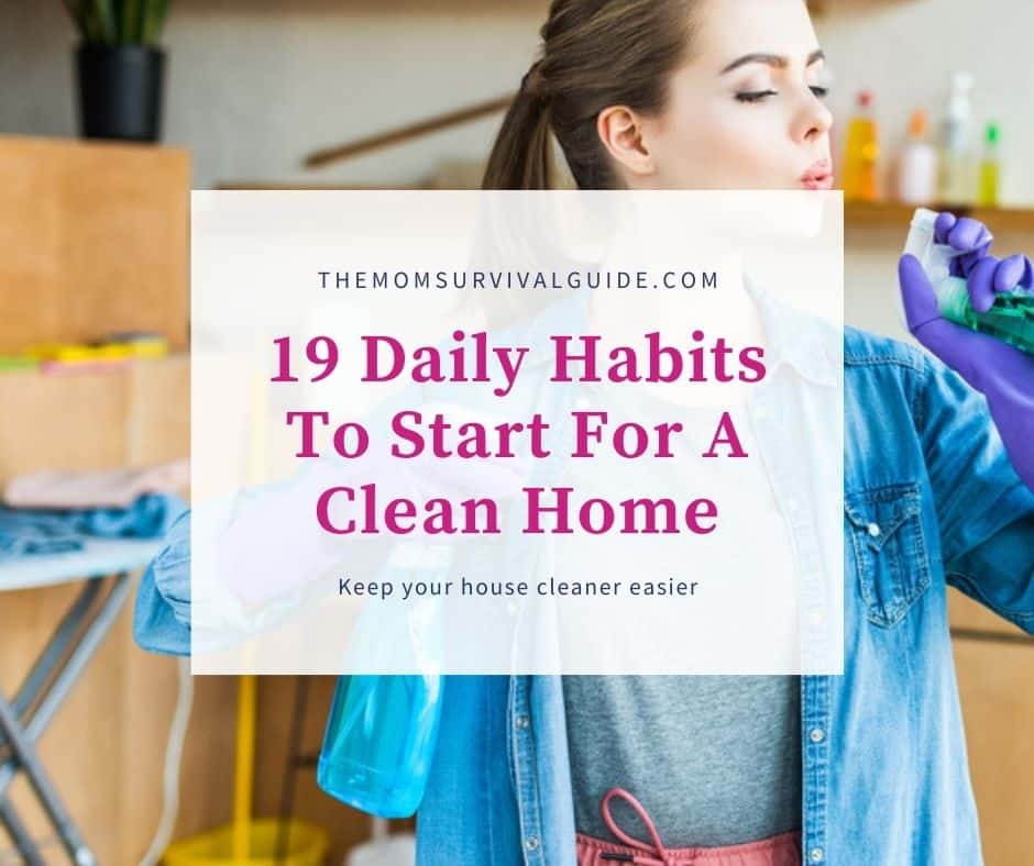 daily habits feature image of woman using spray bottles as guns
