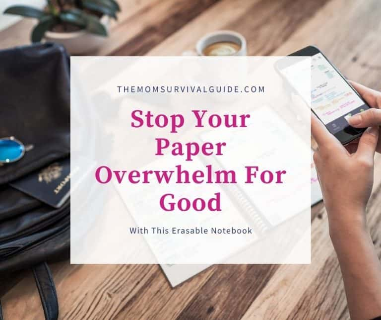 How This Erasable Notebook Will Stop Your Paper Overwhelm For Good