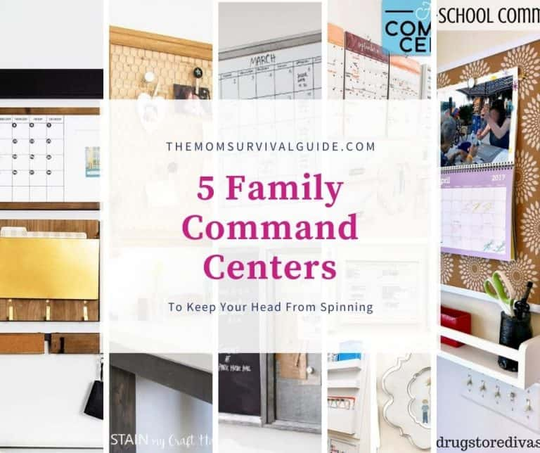 5 Easy Family Command Centers That Will Keep Your Head From Spinning