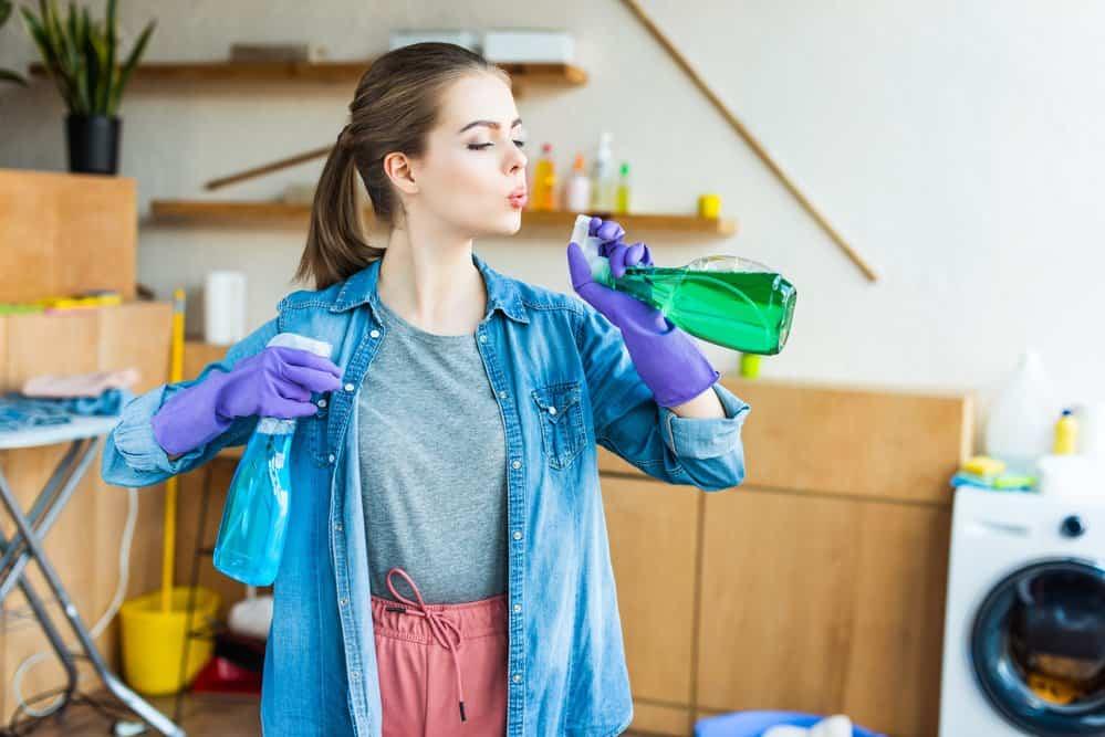 household bleach to clean