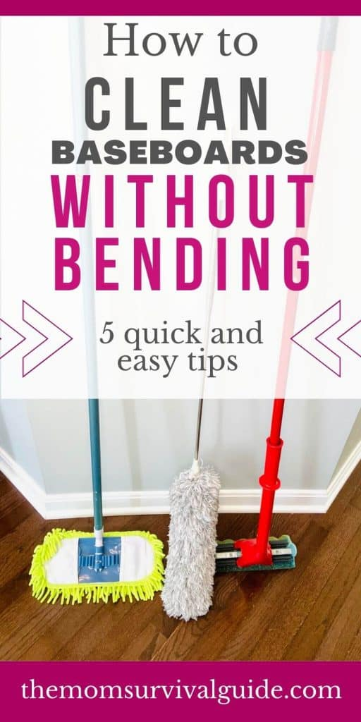 how to clean baseboards without bending over pin 1