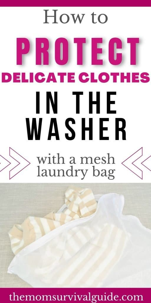 how to use a mesh laundry bag pin