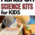 best science kits for kids pin