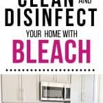 pin for how to clean and use bleach safely