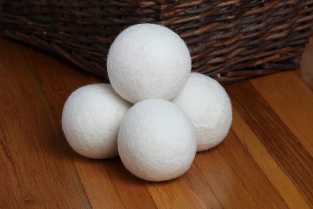 dryer balls stop static in the dryer white dryer balls next to basket