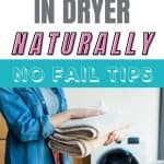 how to stop static in the dryer