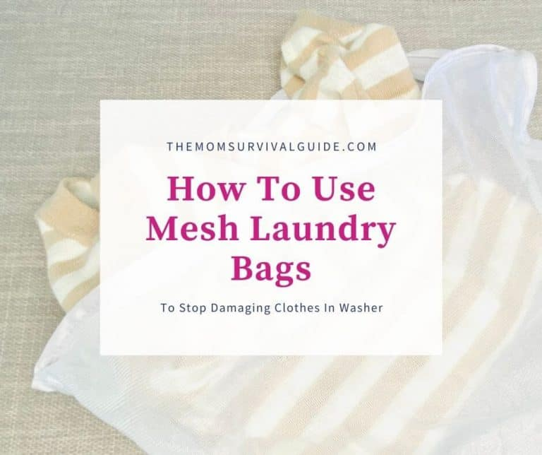 How To Use Mesh Laundry Bags To Stop Damaging Clothes in The Washer
